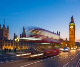 London Big Ben at night lights Stock Photo 02