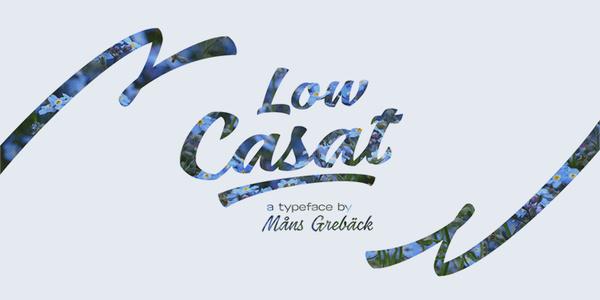 Low Casat Light font