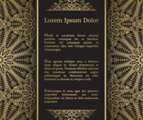 Luxury doily background vectors 01