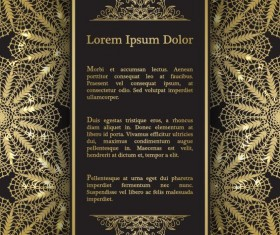 Luxury doily background vectors 02