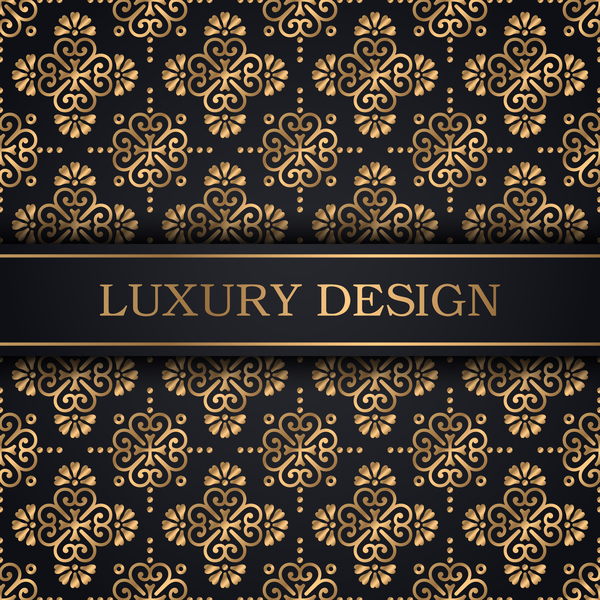 Luxury ornament gold decoration background vector 01