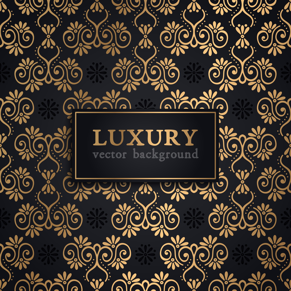 Luxury ornament gold decoration background vector 02