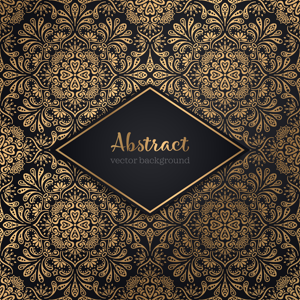 Luxury ornament gold decoration background vector 04