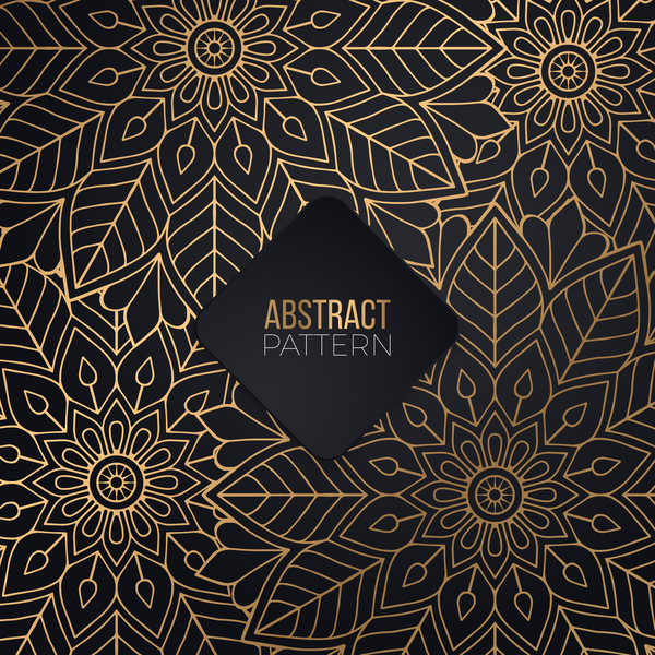 Luxury ornament gold decoration background vector 05