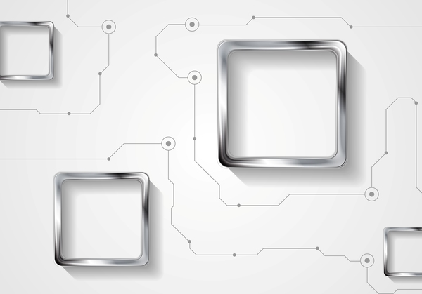 Metal squares vector background