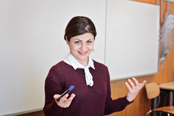 Middle aged female lecturer Stock Photo 02