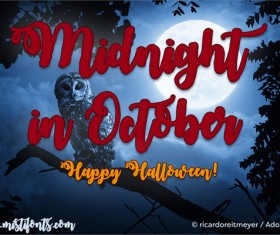 Midnight in October Font