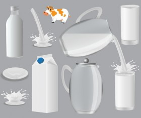 Milk container vector