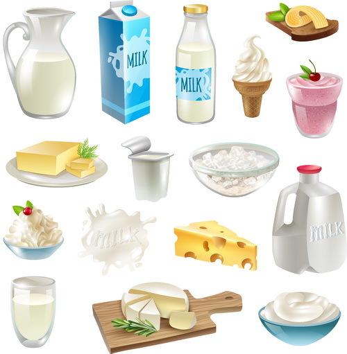 Milk food vector
