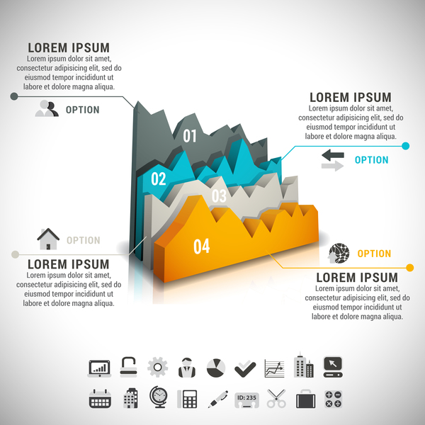 Modern design business infographic vector