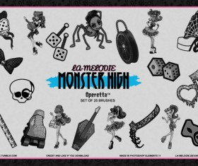 Monster High Operetta Photoshop Brushes