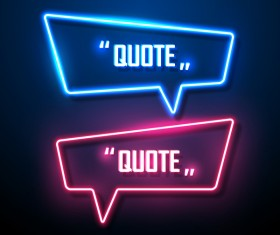 Neon text frames vector material 01