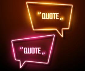 Neon text frames vector material 09