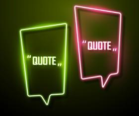 Neon text frames vector material 13