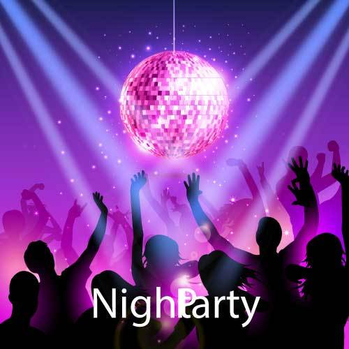 Night party background vector material