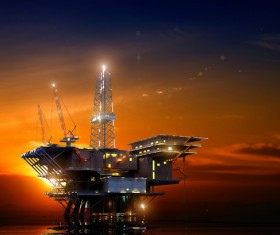 Offshore drilling platform Stock Photo 01