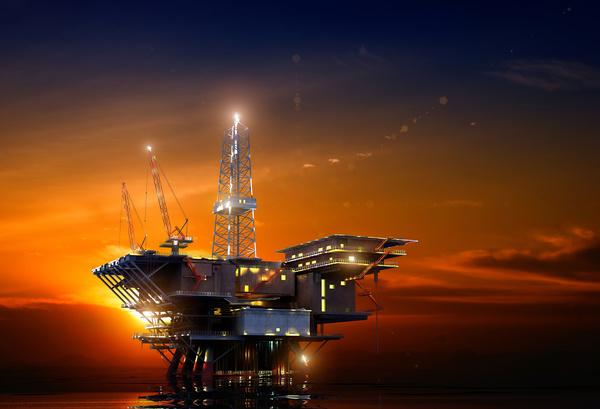 Offshore drilling platform Stock Photo 01