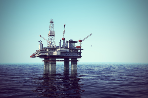 Offshore drilling platform Stock Photo 02