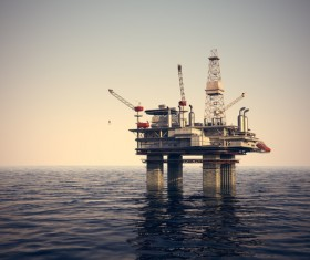 Offshore drilling platform Stock Photo 03