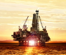 Offshore drilling platform Stock Photo 04