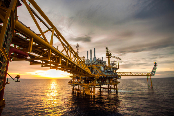 Offshore drilling platform Stock Photo 05