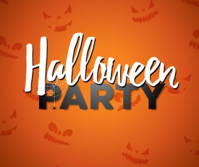 Orange halloween party background vector
