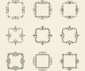 Ornament frame retro vector material