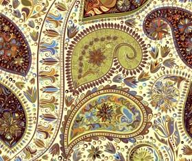 Ornate seamless paisley pattern vectors 02
