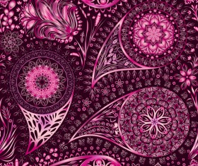 Ornate seamless paisley pattern vectors 03