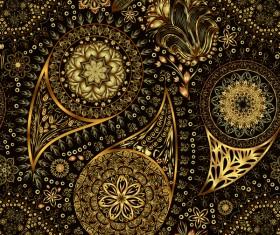 Ornate seamless paisley pattern vectors 06