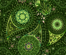 Ornate seamless paisley pattern vectors 07