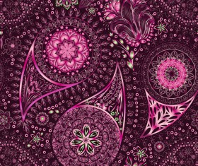 Ornate seamless paisley pattern vectors 08