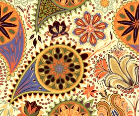 Ornate seamless paisley pattern vectors 10