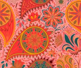 Ornate seamless paisley pattern vectors 14