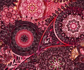 Ornate seamless paisley pattern vectors 17