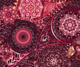 Ornate seamless paisley pattern vectors 17