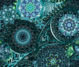 Ornate seamless paisley pattern vectors 18