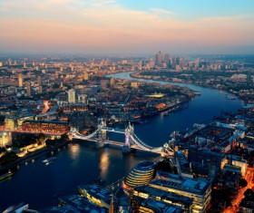 Overlooking the Tower Bridge Stock Photo