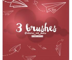 Paper plane Photoshop Brushes