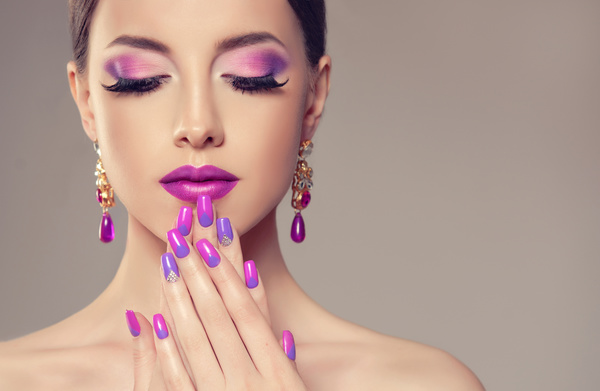 Pink Makeup Woman Stock Photo 02 Free