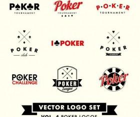 Poker logos design vector