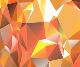 Polygon embossment backgrounds vector 01