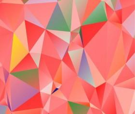 Polygon embossment backgrounds vector 02