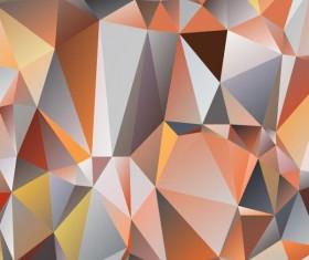 Polygon embossment backgrounds vector 03