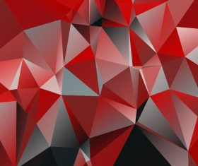 Polygon embossment backgrounds vector 04