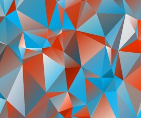 Polygon embossment backgrounds vector 05