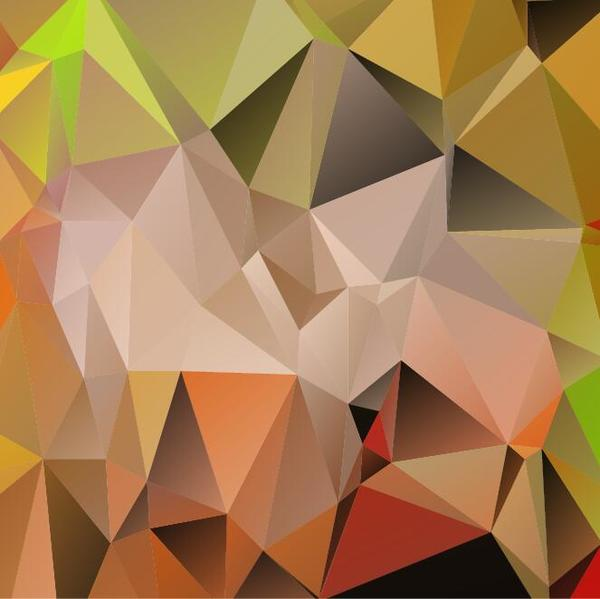 Polygon embossment backgrounds vector 06
