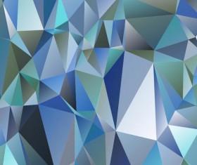Polygon embossment backgrounds vector 07
