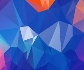 Polygon embossment backgrounds vector 09