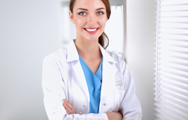 Pretty female doctor Stock Photo